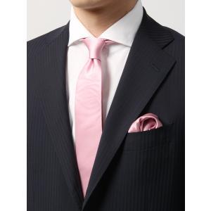 ネクタイ/ナロータイ/メンズ/チーフ付き 織柄ナロータイ/ ピンク系|uktsc