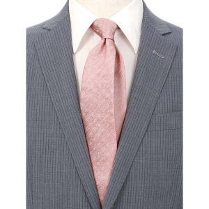ネクタイ/レギュラータイ/メンズ/小紋×ヘリンボーン柄 クレリックネクタイ ピンク系|uktsc