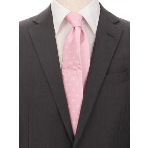 ネクタイ/レギュラータイ/メンズ/ドット柄 クレリックネクタイ ピンク系|uktsc