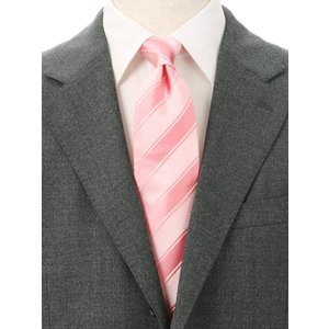 ネクタイ/レギュラータイ/メンズ/ストライプ柄ネクタイ/Fabric by ITALY/ ピンク系|uktsc