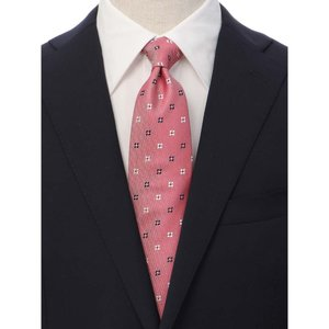 ネクタイ/レギュラータイ/メンズ/JAPAN MADE/小花×織柄ネクタイ ピンク系|uktsc