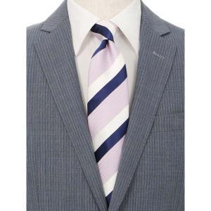 ネクタイ/レギュラータイ/メンズ/JAPAN MADE/ストライプ×織柄ネクタイ ピンク系|uktsc