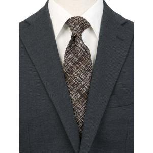 ネクタイ/レギュラータイ/メンズ/JAPAN MADE/チェック柄ネクタイ/Fabric by Lanificio di Pray/ ブラウン系|uktsc
