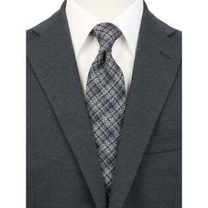 ネクタイ/レギュラータイ/メンズ/JAPAN MADE/チェック柄ネクタイ/Fabric by Lanificio di Pray/ ネイビー系|uktsc