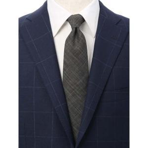 ネクタイ/レギュラータイ/メンズ/JAPAN MADE/チェック柄ネクタイ/Fabric by COLOMBO/ グレー系|uktsc