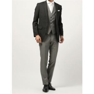 スーツ/メンズ/通年/FORMAL/6WAYS/ セレクト 2つボタンスーツ 無地 NR-04 ブラック×ライトグレー|uktsc