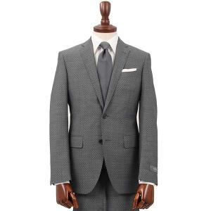 スーツ/メンズ/通年/FORMAL/CERIMONIA/アドバンス 2つボタンスーツ 織柄 NR-04 ミディアムグレー|uktsc