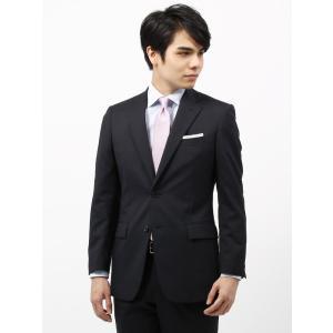ビジネススーツ/メンズ/春夏/BASIC 2つボタンスーツ ピンストライプ IZ-01 ネイビー×ライトグレー uktsc