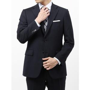 ビジネススーツ/メンズ/春夏/BASIC 2つボタンスーツ ピンストライプ IZ-01 ネイビー×ライトグレー|uktsc