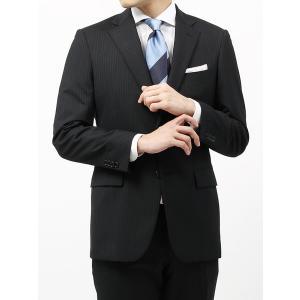 ビジネススーツ/メンズ/春夏/BASIC 2つボタンスーツ ピンストライプ IZ-01 ブラック×ライトグレー|uktsc