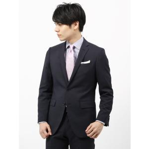 ビジネススーツ/メンズ/春夏/FIT 2つボタンスーツ マイクロパターン NR-05 ネイビー×チャコールグレー|uktsc
