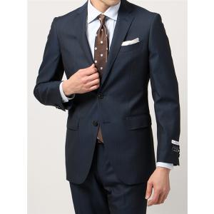 ビジネススーツ/メンズ/通年/FIT 2つボタンスーツ ドビーストライプ NR-05 ブルー×ブラック|uktsc