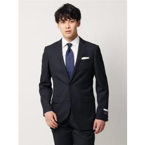 ビジネススーツ/メンズ/通年/FIT 2つボタンスーツ ドビーストライプ NR-05 ネイビー×ブラック|uktsc