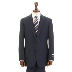 ビジネススーツ/メンズ/通年/BASIC 2つボタンスーツ レールストライプ NZ-01 ネイビー×ブルー×チャコールグレー|uktsc