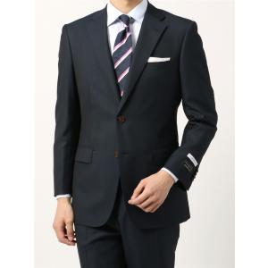 ビジネススーツ/メンズ/通年/BASIC 2つボタンスーツ ジャカード IZ-01 ネイビー×ブルー|uktsc