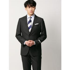 ビジネススーツ/メンズ/通年/FIT 2つボタンスーツ ジャカード NR-05 チャコールグレー|uktsc