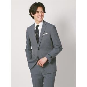 2パンツスーツ/メンズ/春夏/ツーパンツ・ウォッシャブル・COOL MAX/FIT 2つボタンスーツ NR-05 グレイッシュブルー×ブルー|uktsc