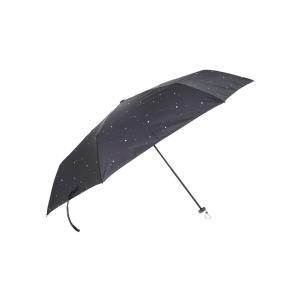 グッズ/メンズ/HUS./Carbon E Slim 55 UVカット折り畳み傘 ネイビー×ホワイト/スターダスト|uktsc