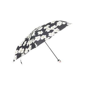 グッズ/メンズ/HUS./Carbon E Slim 55 UVカット折り畳み傘 ネイビー×ホワイト×イエロー/フラワー|uktsc