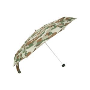 グッズ/メンズ/HUS./Smart duo UVカット折り畳み傘 ブラウン×カーキ×ベージュ/カモフラージュ|uktsc