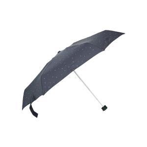 グッズ/メンズ/HUS./Smart duo UVカット折り畳み傘 ネイビー/マルチドット|uktsc