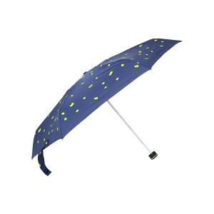 グッズ/メンズ/HUS./Smart duo UVカット折り畳み傘 ネイビー×グリーン×イエロー/レモン|uktsc