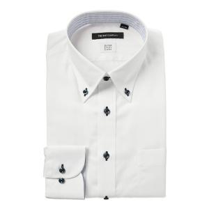 ドレスシャツ/長袖/メンズ/SUPER EASY CARE/ボタンダウンカラードレスシャツ 〔EC・BASIC〕 ホワイト|uktsc
