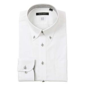 ドレスシャツ/長袖/メンズ/SUPER EASY CARE/ボタンダウンカラードレスシャツ〔EC・BASIC〕 ホワイト|uktsc