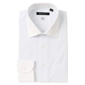 ドレスシャツ/長袖/メンズ/SUPER EASY CARE/クレリック&ワイドカラードレスシャツ 無地 〔EC・BASIC〕 サックスブルー×ホワイト|uktsc