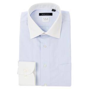 ドレスシャツ/長袖/メンズ/NON IRON STRETCH/クレリック&ワイドカラードレスシャツ 〔EC・BASIC〕 サックスブルー|uktsc