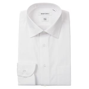 ドレスシャツ/長袖/メンズ/ワイドカラードレスシャツ 織柄 〔EC・FIT〕 ホワイト|uktsc