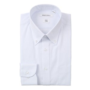 ドレスシャツ/長袖/メンズ/ボタンダウンカラードレスシャツ ストライプ 〔EC・FIT〕 サックスブルー uktsc