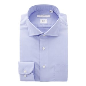 ドレスシャツ/長袖/メンズ/SUPER EASY CARE/ホリゾンタルカラードレスシャツ 織柄〔EC・FIT〕 ブルー|uktsc