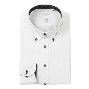 ドレスシャツ/長袖/メンズ/SUPER EASY CARE/デュエボットーネ&ボタンダウンカラードレスシャツ〔EC・FIT〕 ホワイト|uktsc