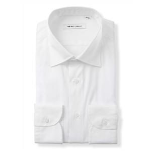 ドレスシャツ/長袖/メンズ/ワイドカラードレスシャツ 無地 ホワイト