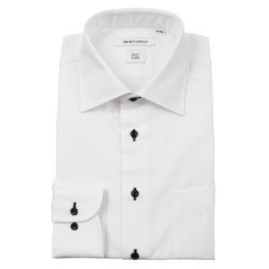 ドレスシャツ/長袖/メンズ/ワイドカラードレスシャツ シャドーストライプ 〔EC・FIT〕 ホワイト|uktsc