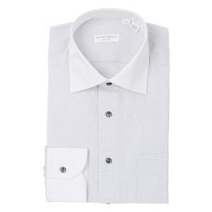 ドレスシャツ/長袖/メンズ/THE SUIT COMPANY Red/ワイドカラードレスシャツ〔EC・SLIM FIT〕 ライトグレー×ホワイト|uktsc