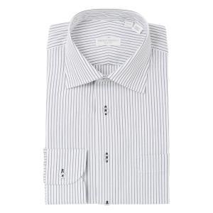 ドレスシャツ/長袖/メンズ/THE SUIT COMPANY Red/ワイドカラードレスシャツ 〔EC・SLIM FIT〕 ホワイト×ネイビー|uktsc