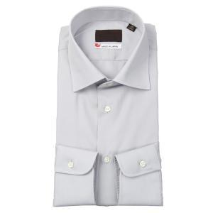 ドレスシャツ/長袖/メンズ/JAPAN MADE SHIRTS/ワイドカラードレスシャツ 無地 ライトグレー|uktsc