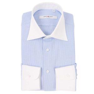 ドレスシャツ/長袖/メンズ/JAPAN QUALITY/クレリック&ワイドカラードレスシャツ 織柄 ...