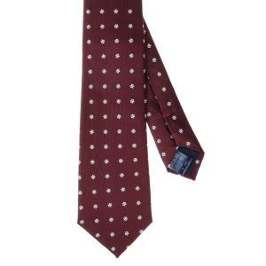 ネクタイ/レギュラータイ/メンズ/花柄×織柄ネクタイ レッド系 uktsc