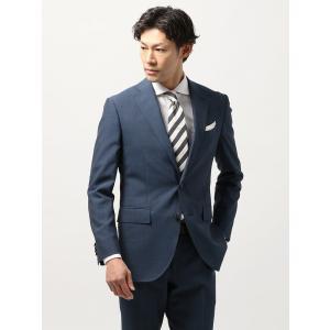 ビジネスジャケット/メンズ/春夏/blazer's bank.com/サマーライトシャンブレー ウールジャケット ライトネイビー uktsc