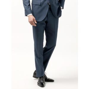 ビジネスパンツ/メンズ/春夏/blazer's bank.com/サマーライトシャンブレー ウールテーパードパンツ ライトネイビー uktsc
