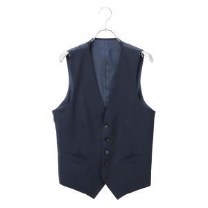 セットアップスーツ/ジレ/メンズ/春夏/blazer's bank.com/サマーライトシャンブレー ウールジレ ネイビー uktsc
