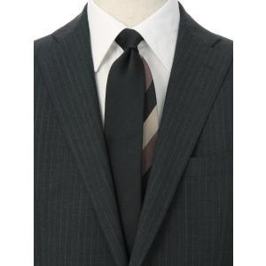 ネクタイ/レギュラータイ/メンズ/無地×ストライプ柄 クレリックネクタイ ブラック系|uktsc