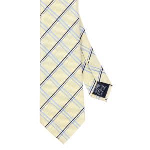 ネクタイ/レギュラータイ/メンズ/チェック×織柄ネクタイ イエロー系|uktsc