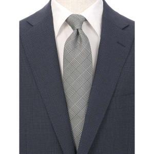 ネクタイ/レギュラータイ/メンズ/グレンチェック柄ネクタイ/Fabric by ITALY/ ブラック系|uktsc