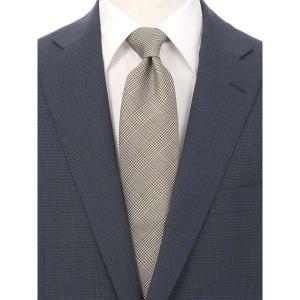 ネクタイ/レギュラータイ/メンズ/グレンチェック柄ネクタイ/Fabric by ITALY/ ブラウン系|uktsc
