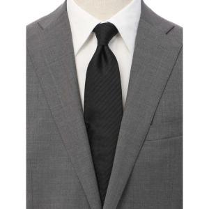 ネクタイ/レギュラータイ/メンズ/シャドーストライプ柄ネクタイ/Fabric by ITALY/ ブラック系|uktsc