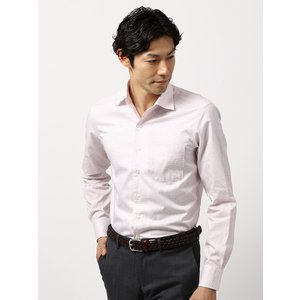 ドレスシャツ/長袖/メンズ/COOL MAX/ホリゾンタルカラードレスシャツ 〔EC・CLASSIC SLIM-FIT〕 ホワイト×レッド|uktsc